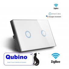 Qubino ZigBee 2 Gang Touch Switch