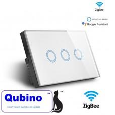 Qubino ZigBee 3 Gang Touch Switch