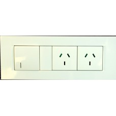 Black Cat Z Wave 240VAC Double  Wall Socket