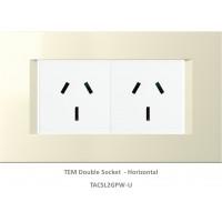 TAS Double  Socket Set-Ivory White-Line